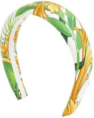 Versace Barocco Print Silk Headband