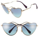 Miu Miu Women's 66Mm Sunglasses - Dark Blue