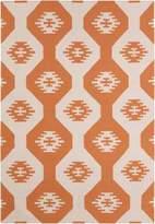 Chandra Lima - Patterned Rectangular Reversible Wool/Cotton Area Rug 2
