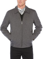 Perry Ellis Zip-Front Heathered Jacket