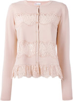 RED Valentino lace applique cardigan - women - Polyamide/Viscose - XS