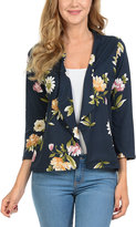 Magic Fit Navy Floral BLazer