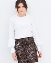 Rebecca Vallance Aloisia Frill Sleeve Blouse