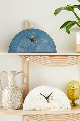 Anthropologie Terrazzo Mantel Clock By in Blue