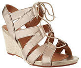 Clarks Artisan Leather Espadrille Lace-up Wedges - Acina Chester