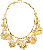 Jose & Maria Barrera Golden Lacy Draped Collar Necklace