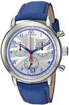 88 Rue du Rhone Men's 'Double 8 Origin' Swiss Quartz Stainless Steel and Leather Dress Watch, Color:Blue (Model: 87WA154507)