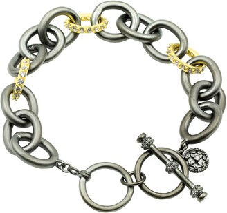 Freida Rothman Heavy Alternating Link Toggle Bracelet