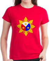CafePress - Philippine Sun - Womens Cotton T-Shirt