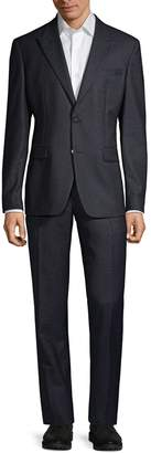 Versace Modern-Fit Heathered Wool Suit