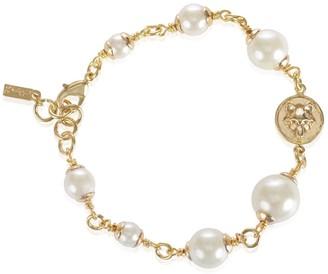 Alexa K Gold Wolf Pearl Bracelet