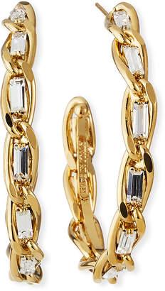 Rosantica Large Slim Crystal & Chain Hoop Earrings