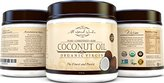 Best Organic Virgin Coconut Oil For Hair Skin & Stretch Mark, Finest Grade For Beauty, Natural Moisturizer, Great Value 15 Oz Jar, Pure Raw Unrefined USDA Certified