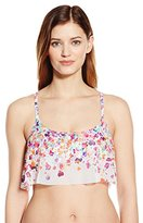 Kenneth Cole Reaction Women's Don't Mesh with Me Crop Bra Bikini Top