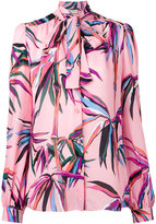 Emilio Pucci tied neck printed shirt - women - Silk - 44