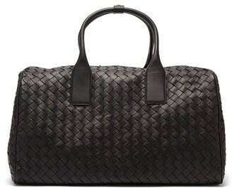 Bottega Veneta Medium Intrecciato Leather Holdall - Black