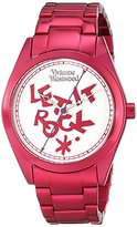 Vivienne Westwood Women's VV072SLPK St. Paul's Analog Display Swiss Quartz Pink Watch