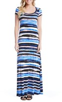 Karen Kane Women's Painted Stripe Maxi Dress