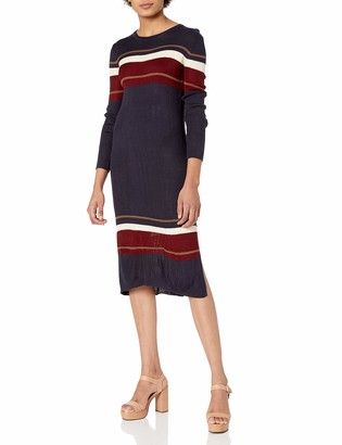 ASTR the Label Women's Myrtle Colorblock Midi Sweater Dress with Slits