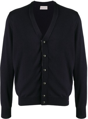 Moncler stripe trim V-neck cardigan
