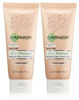 Garnier NEW Skin Renew Miracle Skin Perfector Bb Cream 2.5 Fl.oz (2 Pack)