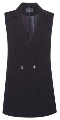 Dorothy Perkins Womens Black Sleeveless Blazer Jacket, Black