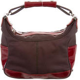 Tod's Patent Leather-Accented Mini Hobo