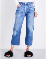 KENDALL + KYLIE KENDALL & KYLIE Repurposed vintage-fit high-rise jeans