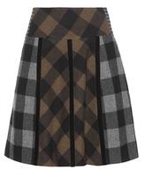 Etro Plaid wool skirt