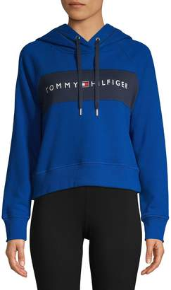 Tommy Hilfiger Cropped Cotton-Blend Hoodie