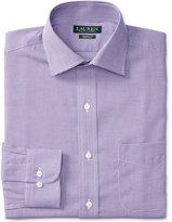 Lauren Ralph Lauren Men's Warren Classic-Fit Non-Iron Purple White Houndstooth Dress Shirt