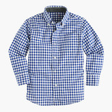 J.Crew Kids' Secret Wash shirt in gingham