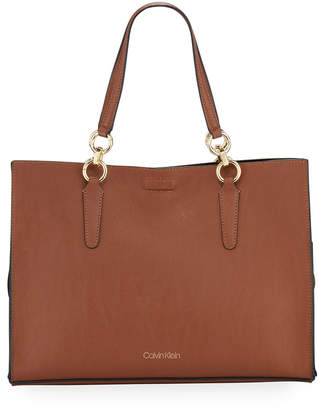 Calvin Klein Pebbled Faux-Leather Tote Bag