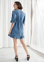 And other stories Voluminous Denim Mini Dress