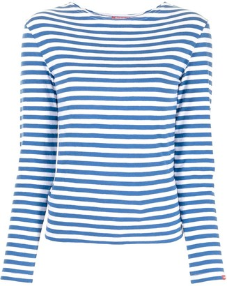 Denimist Striped Cotton Long-Sleeved Top