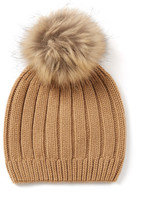 Joseph Cashmere Luxe Pompom Hat in Camel