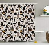 Vintage Halloween Shower Curtain by Ambesonne