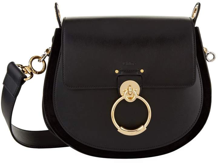 Chloé Leather Large Tess Saddle Bag