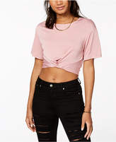 Material Girl Juniors' Tie-Front Top, Created for Macy's