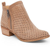 Lucky Brand Basel 3 Side Zip Perforated Leather Booties