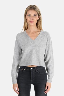 Naadam Cashmere V Neck Crop Sweater