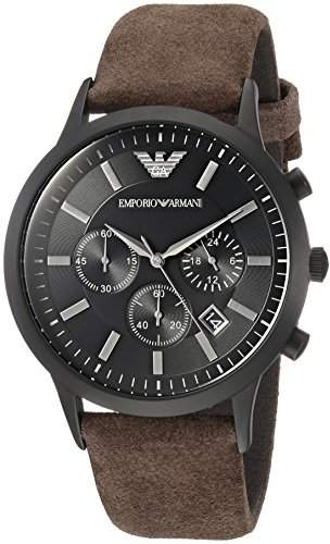 Emporio Armani Men's 'Fashion' Quartz Stainless Steel and Leather Casual Watch