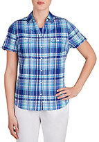 Allison Daley Gingham Button-Front Shirt