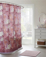 Echo Florentina Cotton Sateen Paisley-Print Shower Curtain Bedding