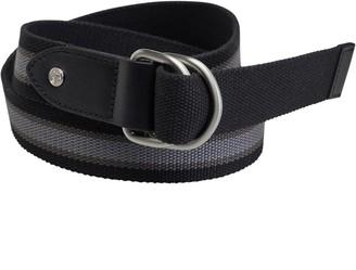 Fred Perry Mens Striped Webbing Reversible Belt Black/Steel