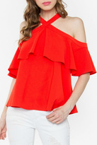 Sugar Lips Rayna Cold Shoulder Top