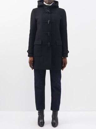 Saint Laurent Hooded Virgin-wool Duffel Coat - Black
