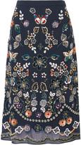 Needle & Thread Embellished georgette skirt