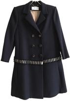 Chloé Navy wool twill coat