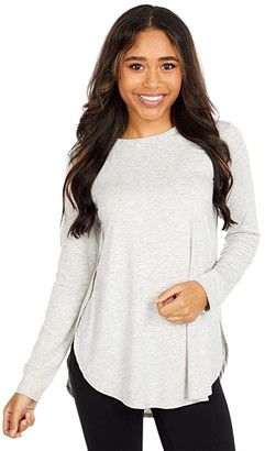 tasc Performance Jenny Long Sleeve T-Shirt (Light Heather Gray) Women's Clothing